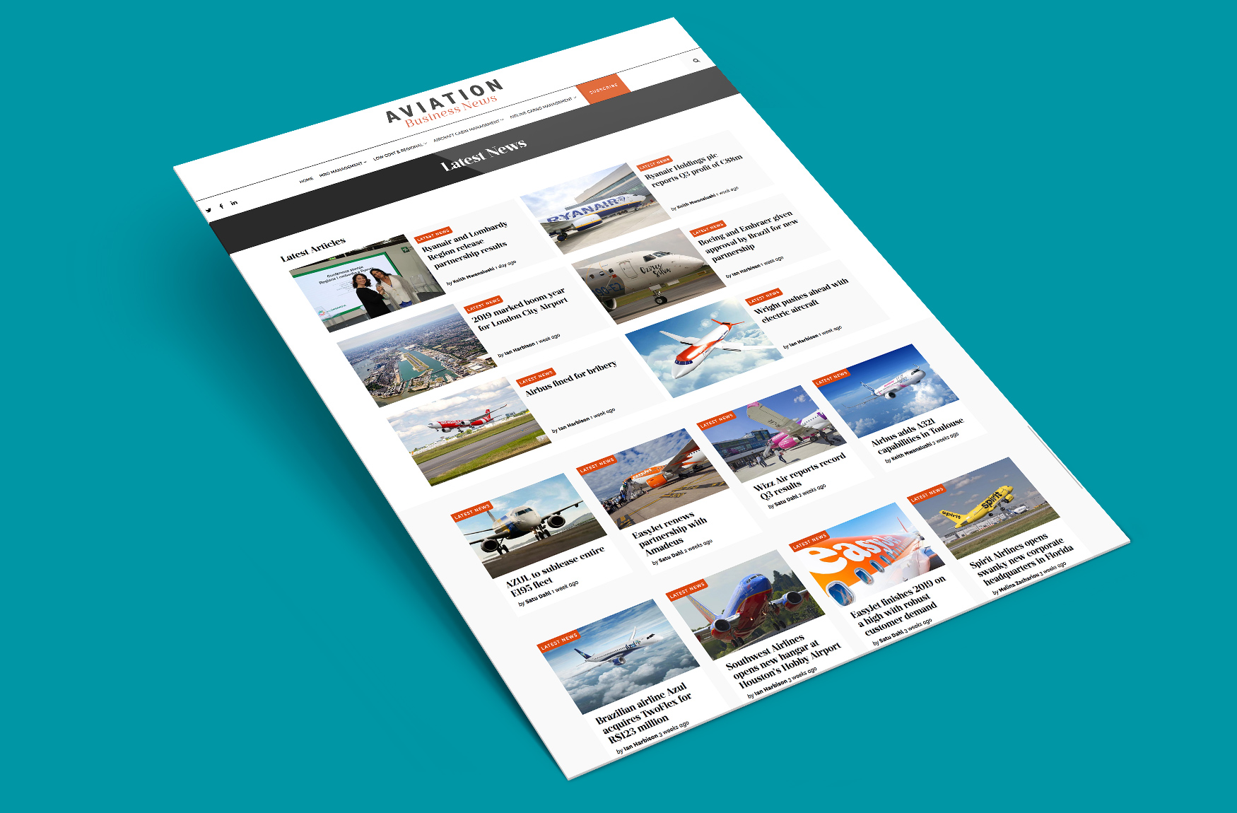 Aviation Business News archive