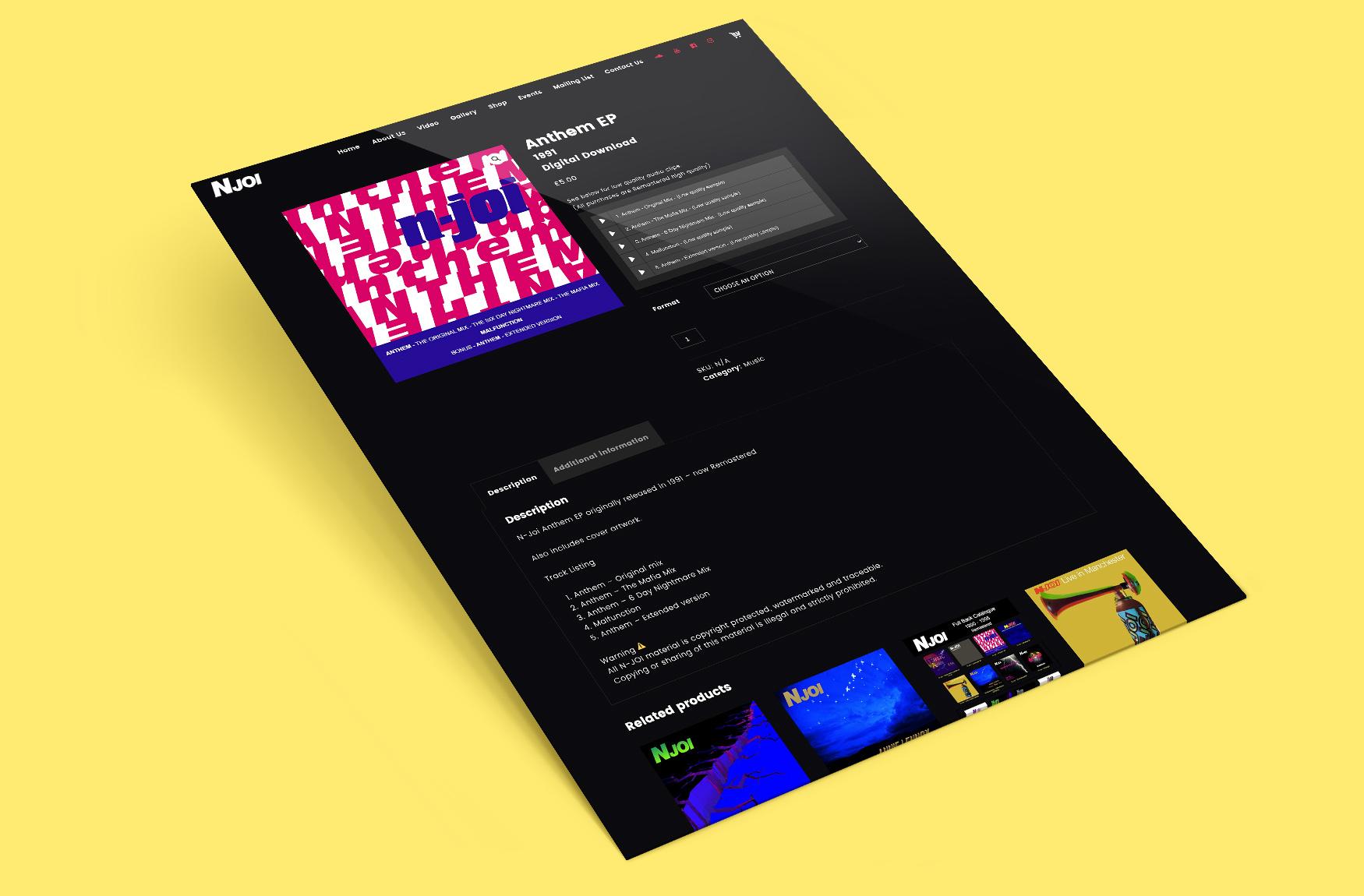 N-Joi Website Design Anthem