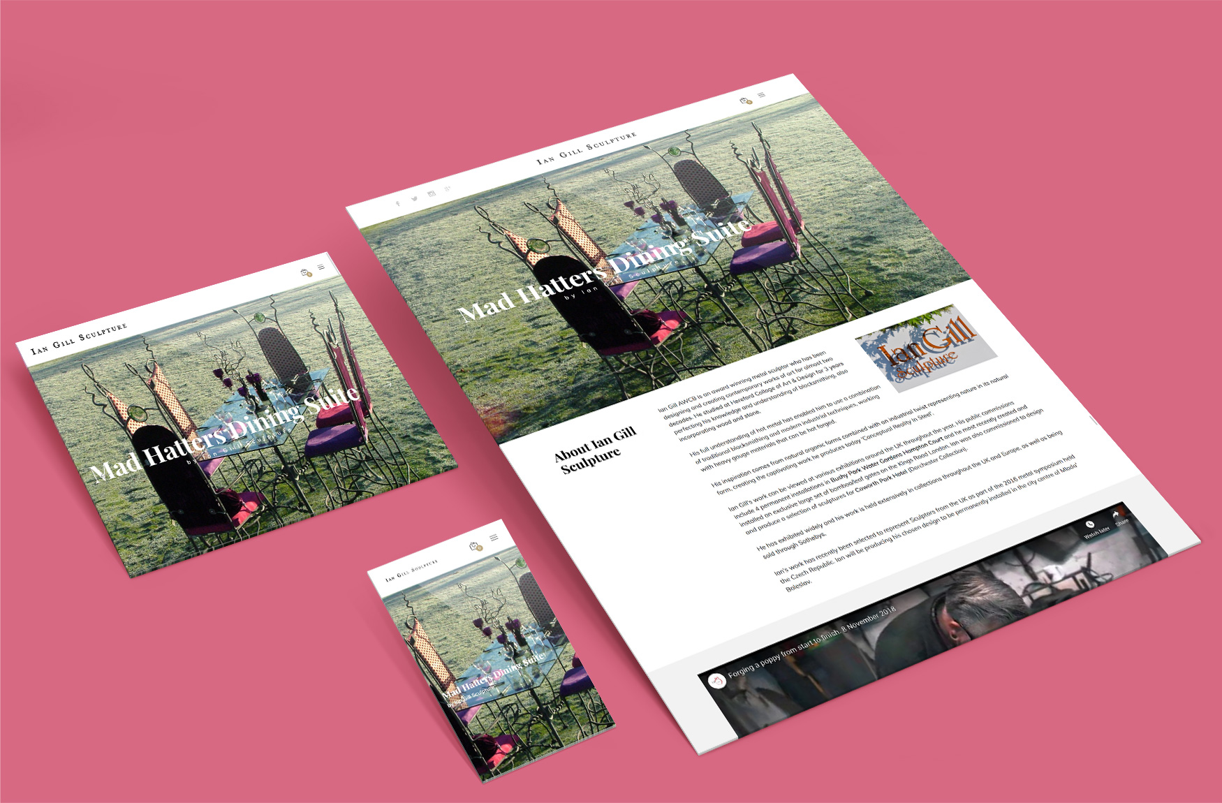 Ian Gill Sculpture website
